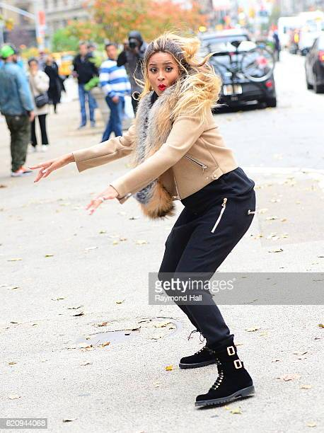 Ciara is seen on the set of a photoshoot on November 3 2016 in New York City