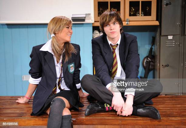 Ciara Janson and Nicholas Hoult take part in 'New Boy' theatre photocall at Trafalgar Studios on 18 March 2009 in London England.