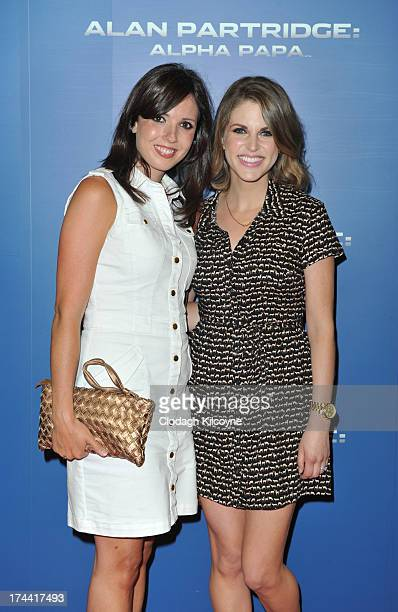 Ciara Molloy and Amy Huberman attends the Dublin premiere of 'Alan Partridge Alpha Papa' at The Point Village on July 25 2013 in Dublin Ireland