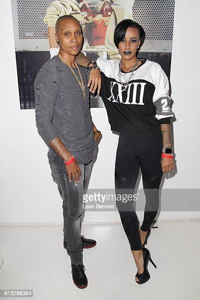 Ciara Omar and actor/model Azmarie Livingston attends A Toast To 90's Hip Hop Fashion Celebrating Fashion Icon Karl Kani at Dom LA on October 7 2016...