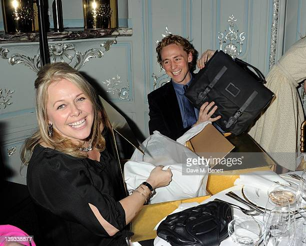 Ciara Parks and Tom Hiddleston attend a dinner following the Mulberry Autumn/Winter 2012 show during London Fashion Week at The Savile Club on...