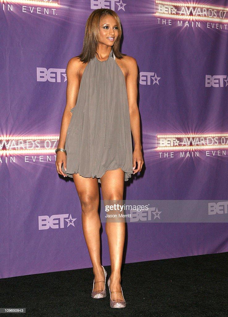 Ciara, performer during BET Awards 2007 - Press Room at Shrine Auditorium in Los Angeles, California, United States.