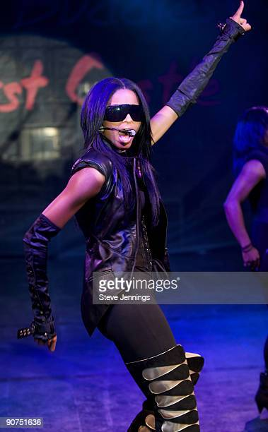 Ciara performs at the Audi Best Buddies Challenge at Hearst Castle on September 12 2009 in San Simeon California