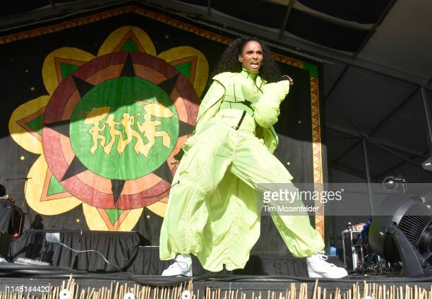 Ciara performs during the 2019 New Orleans Jazz Heritage Festival 50th Anniversary at Fair Grounds Race Course on April 25 2019 in New Orleans...