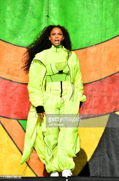 Ciara performs during the New Orleans Jazz and Heritage Festival 2019 50th Anniversary at Fair Grounds Race Course on April 25 2019 in New Orleans...