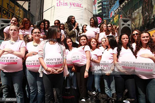 Ciara performs in honor of National Teen Pregnancy Awareness Month in Times Square on May 3, 2011 in New York City.