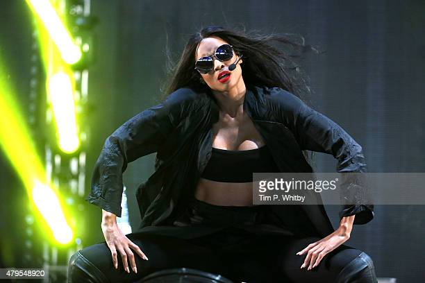 Ciara performs on day 3 of the New Look Wireless Festival at Finsbury Park on July 5 2015 in London England