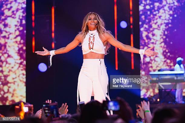 Ciara performs on stage during We Day at KeyArena on April 20 2016 in Seattle Washington