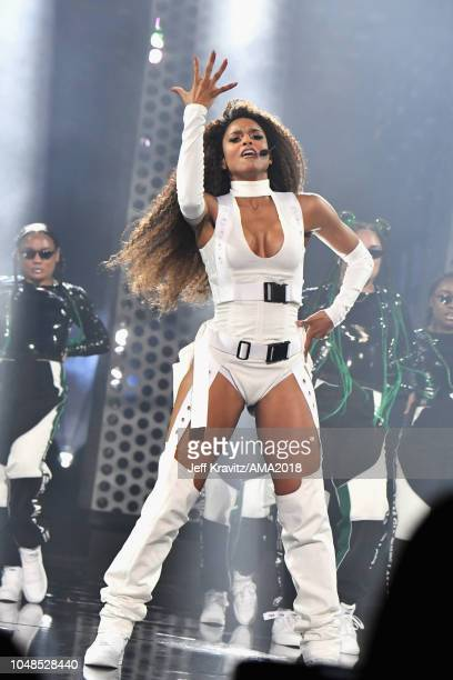 Ciara performs onsage at the 2018 American Music Awards at Microsoft Theater on October 9 2018 in Los Angeles California