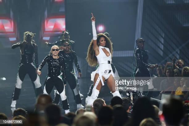 Ciara performs onstage during the 2018 American Music Awards at Microsoft Theater on October 9 2018 in Los Angeles California
