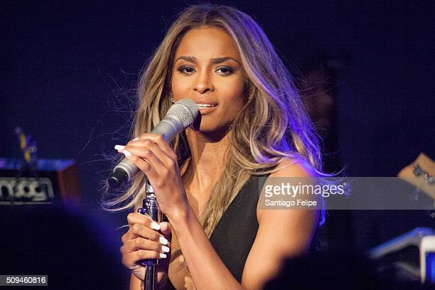 Ciara performs onstage during the Keds Centennial Celebration at Center548 on February 10 2016 in New York City