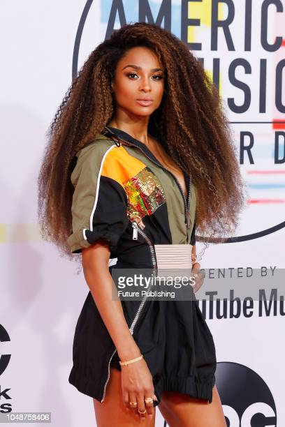 Ciara photographed on the red carpet of the 2018 American Music Awards at the Microsoft Theater on October 9, 2018 in Los Angeles, USA.
