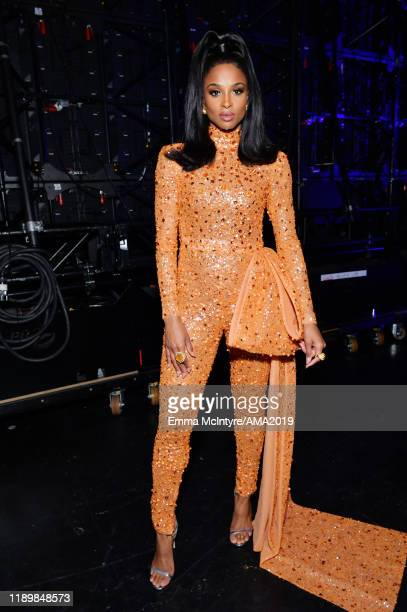 Ciara poses backstage during the 2019 American Music Awards at Microsoft Theater on November 24 2019 in Los Angeles California