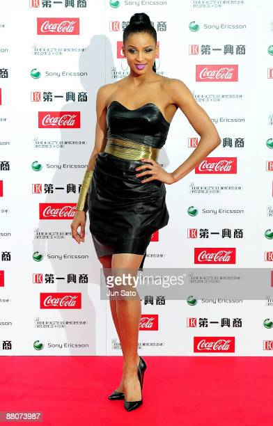 Ciara poses on the red carpet during the MTV Video Music Awards Japan 2009 at Saitama Super Arena on May 30 2009 in Saitama Japan