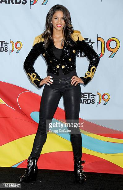 Ciara posing in the pressroom for the 2009 BET Awards at the Shrine Auditorium in Los Angeles California on June 28 2009