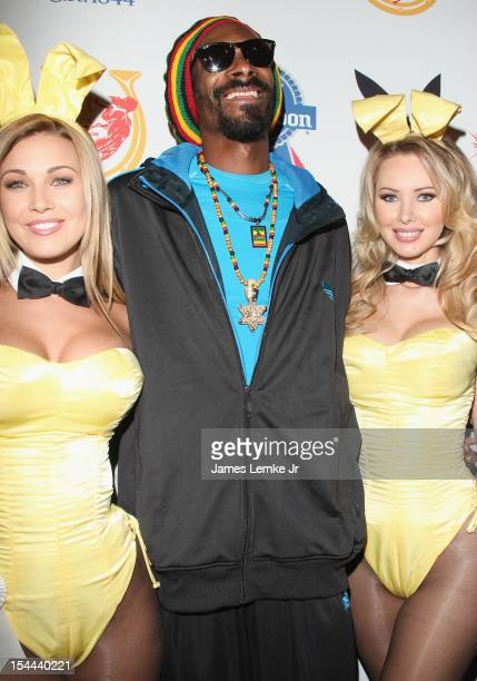 Ciara Price Snoop Dogg and Tiffany Toth attend the Snoop Dogg Presents Colt 45 Works Every Time mansion party with Evan and Daren Metropoulos at The...