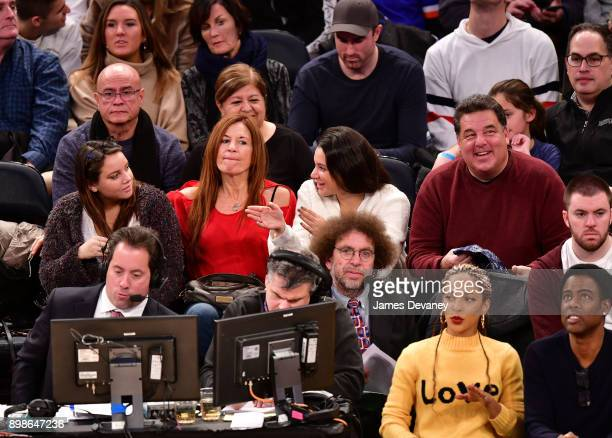 Ciara Schirripa Laura Schirripa Bria Schirripa and Steve Schirripa attend the New York Knicks Vs Philadelphia 76ers game at Madison Square Garden on...