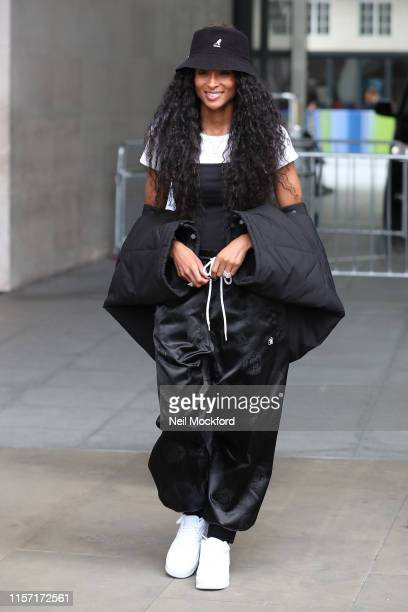 Ciara seen at the BBC Radio One studios on June 20, 2019 in London, England.