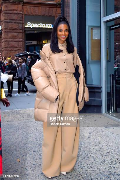 Ciara seen out and about in Manhattan on October 30 2019 in New York City