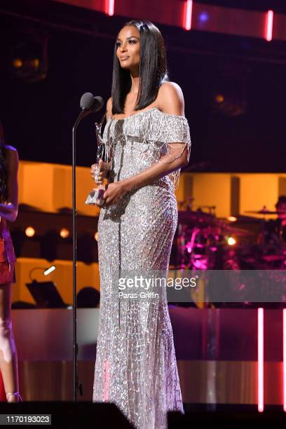 Ciara speaks onstage at Black Girls Rock 2019 Hosted By Niecy Nash at NJPAC on August 25 2019 in Newark New Jersey