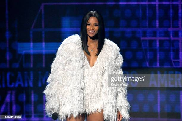 Ciara speaks onstage during the 2019 American Music Awards at Microsoft Theater on November 24 2019 in Los Angeles California