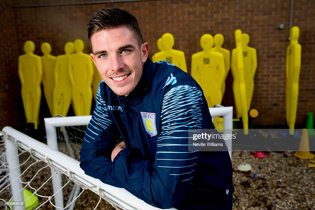 Ciaran Clark of Aston Villa poses for a picture at the club's training ground at Bodymoor Heath on January 23, 2015 in Birmingham, England.