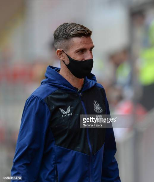Ciaran Clark of Newcastle United FC during the Pre Season Friendly between Rotherham United and Newcastle United at AESSEAL New York Stadium on July...