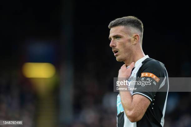 Ciaran Clark of Newcastle United FC during the Premier League match between Crystal Palace and Newcastle United at Selhurst Park on October 23, 2021...