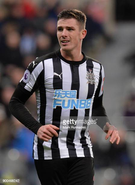 Ciaran Clark of Newcastle United in action during the Premier League match between Newcastle United and Brighton and Hove Albion at St James Park on...