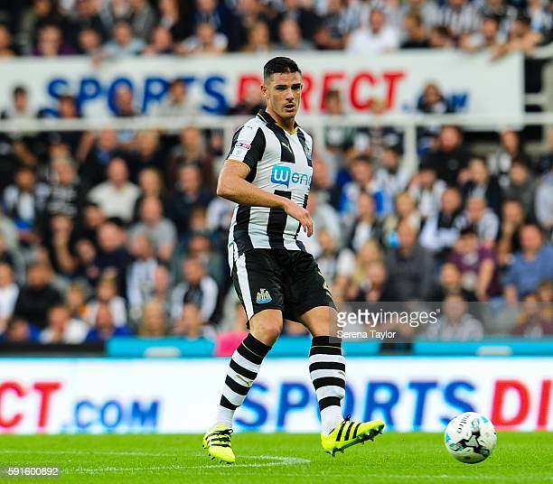 Ciaran Clark of Newcastle United passes the ball during the Sky Bet Championship match between Newcastle United and Reading at StJames' Park on...