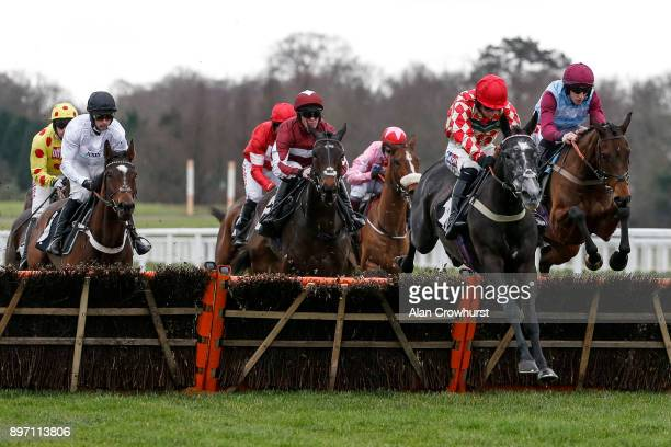 Ciaran Gethings riding Clondaw Native on their way to winning The Eventmasterscouk Maiden Hurdle Race at Ascot racecourse on December 22 2017 in...