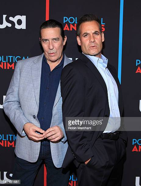 Ciaran Hinds and Adrian Pasdar attend USA Network's Political Animals New York Screening at The Morgan Library Museum on June 25 2012 in New York City