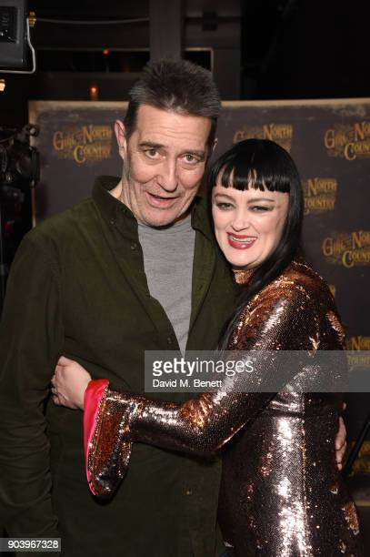 Ciaran Hinds and Bronagh Gallagher attend the after party of Bob Dylan and Conor McPherson's 'Girl from the North Country' at Mint Leaf following a...