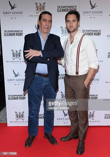 Ciaran Hinds and Ryan Eggold arrive at The Disappearance of Eleanor Rigby dinner hosted by Hudson's Bay and Grey Goose Vodka during the 2013 Toronto...