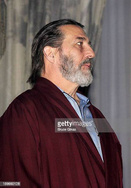 Ciaran Hinds as 'Big Daddy' takes his Opening Night curtain call in 'Cat On A Hot Tin Roof' on Broadway at The Richard Rodgers Theatre on January 17...