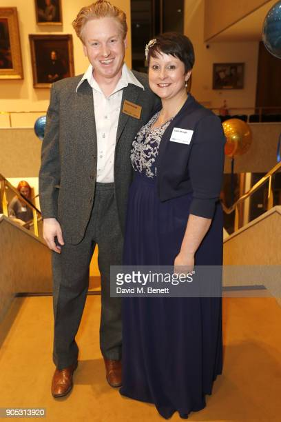 Ciaran Murtagh and Laura attend The Writers' Guild Awards 2018 held at Royal College Of Physicians on January 15 2018 in London England