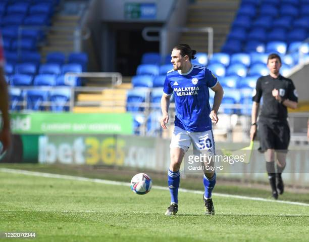 Ciaron Brown of Cardiff City FC during the Sky Bet Championship match between Cardiff City and Nottingham Forest at Cardiff City Stadium on April 2,...
