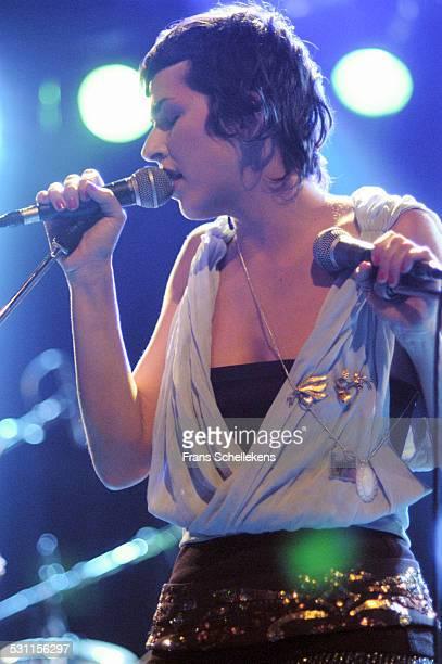 Cibelle, vocal, performs at the Melkweg on September 30th 2003 in Amsterdam, the Netherlands.