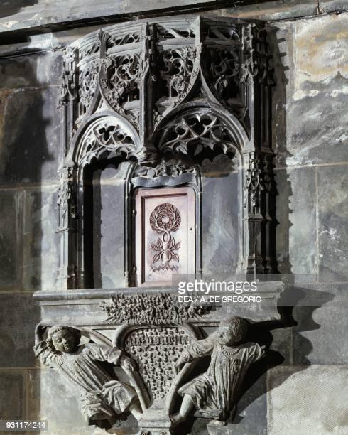 Ciborium known as Armadietto della Spina St John's Church Saluzzo Piedmont Italy