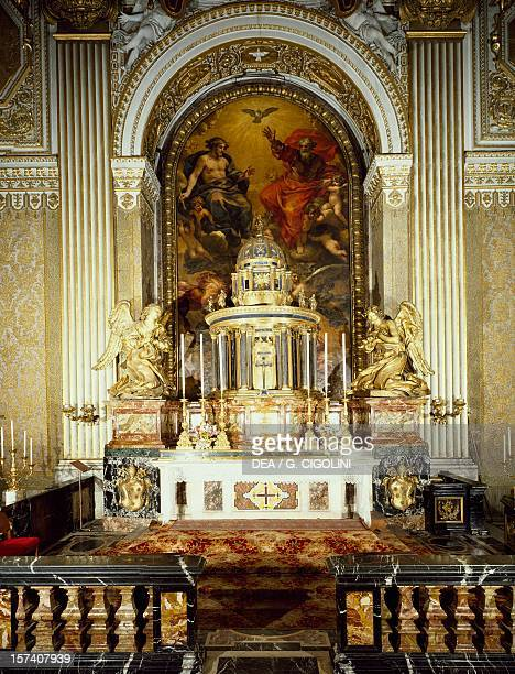 Ciborium of the Chapel of the Blessed Sacrament by Gian Lorenzo Bernini inspired by the Temple of St Peter in Montorio by Donato Bramante St Peter's...