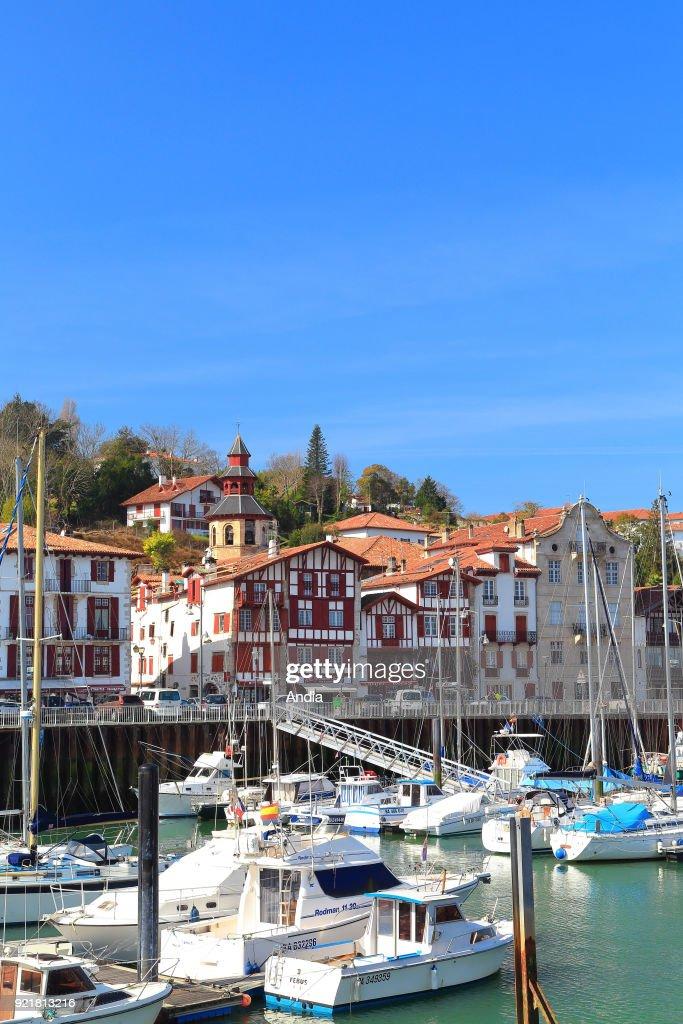 Ciboure, the marina. : News Photo