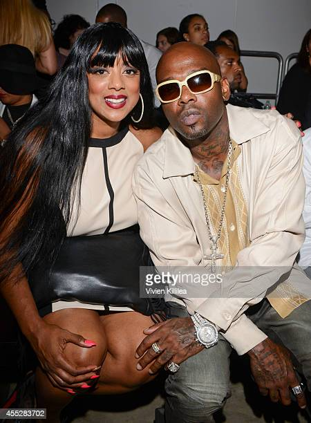 Cicely Evans and Anthony Treach Criss attend the K Nicole fashion show during MercedesBenz Fashion Week Spring 2015 at Pier 59 on September 11 2014...