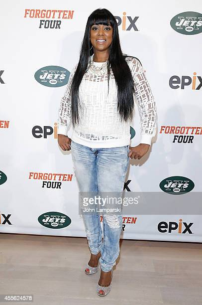 Cicely Evans attends Forgotten Four The Integration Of Pro Football at The New York Times Center on September 17 2014 in New York City