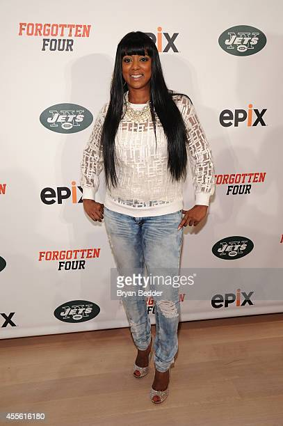 Cicely Evans attends the EPIX THE NY JETS Forgotten Four The Integration Of Pro Football screening at The TimesCenter on September 17 2014 in New...