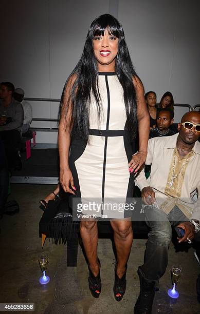 Cicely Evans attends the K Nicole fashion show during MercedesBenz Fashion Week Spring 2015 at Pier 59 on September 11 2014 in New York City
