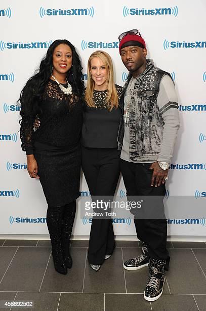 Cicely Evans Dr Jenn Berman and Treach Criss attend Dr Jenn Berman tapes The Dr Jenn Show at SiriusXM Studios on November 11 2014 in New York City