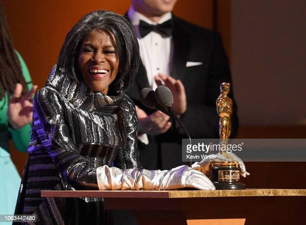 Cicely Tyson accepts her award onstage during the Academy of Motion Picture Arts and Sciences' 10th annual Governors Awards at The Ray Dolby Ballroom...