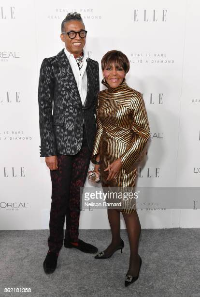 Cicely Tyson and Designer B Michael attends ELLE's 24th Annual Women in Hollywood Celebration presented by L'Oreal Paris Real Is Rare Real Is A...