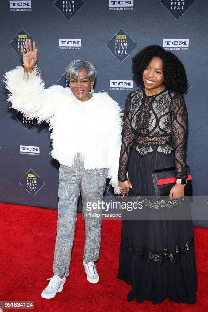 Cicely Tyson and guest attend the 2018 TCM Classic Film Festival Opening Night Gala 50th Anniversary World Premiere Restoration of The Producers at...
