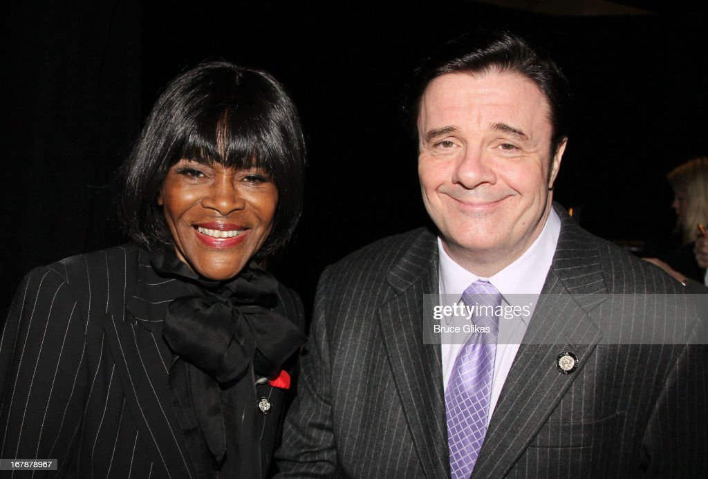 Cicely Tyson and Nathan Lane attend the 2013 Tony Awards: The Meet The Nominees Press Junket at the Millenium Hilton on May 1, 2013 in New York City.